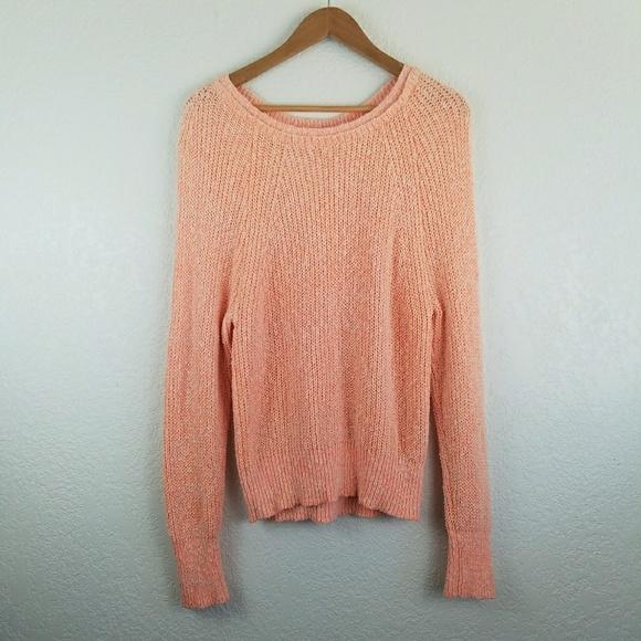 52bf6b65ebbf9 Free People Sweaters - Free People Orange Knit Long Sleeve Sweater